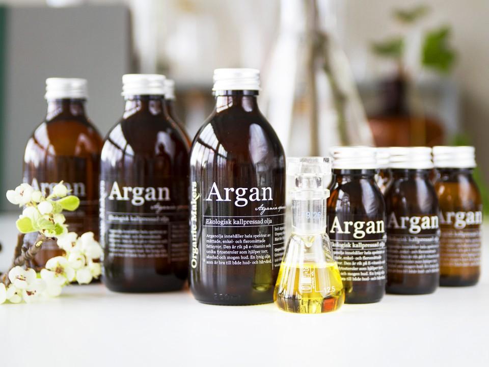 Arganolja för hud och hår - ekologisk - organicmakers.se