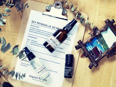Gör din egen ekologiska myggolja och myggspray - organicmakers.se