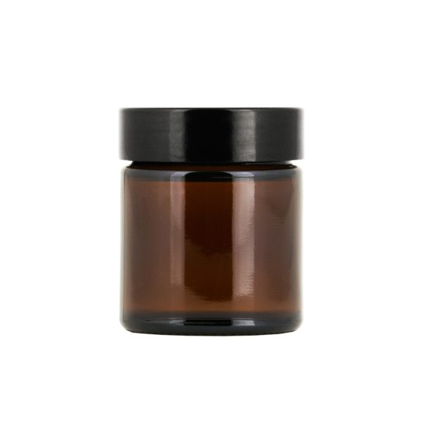 Brun glasburk 30 ml med lock