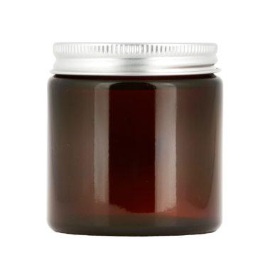 Brun glasburk 120 ml med lock