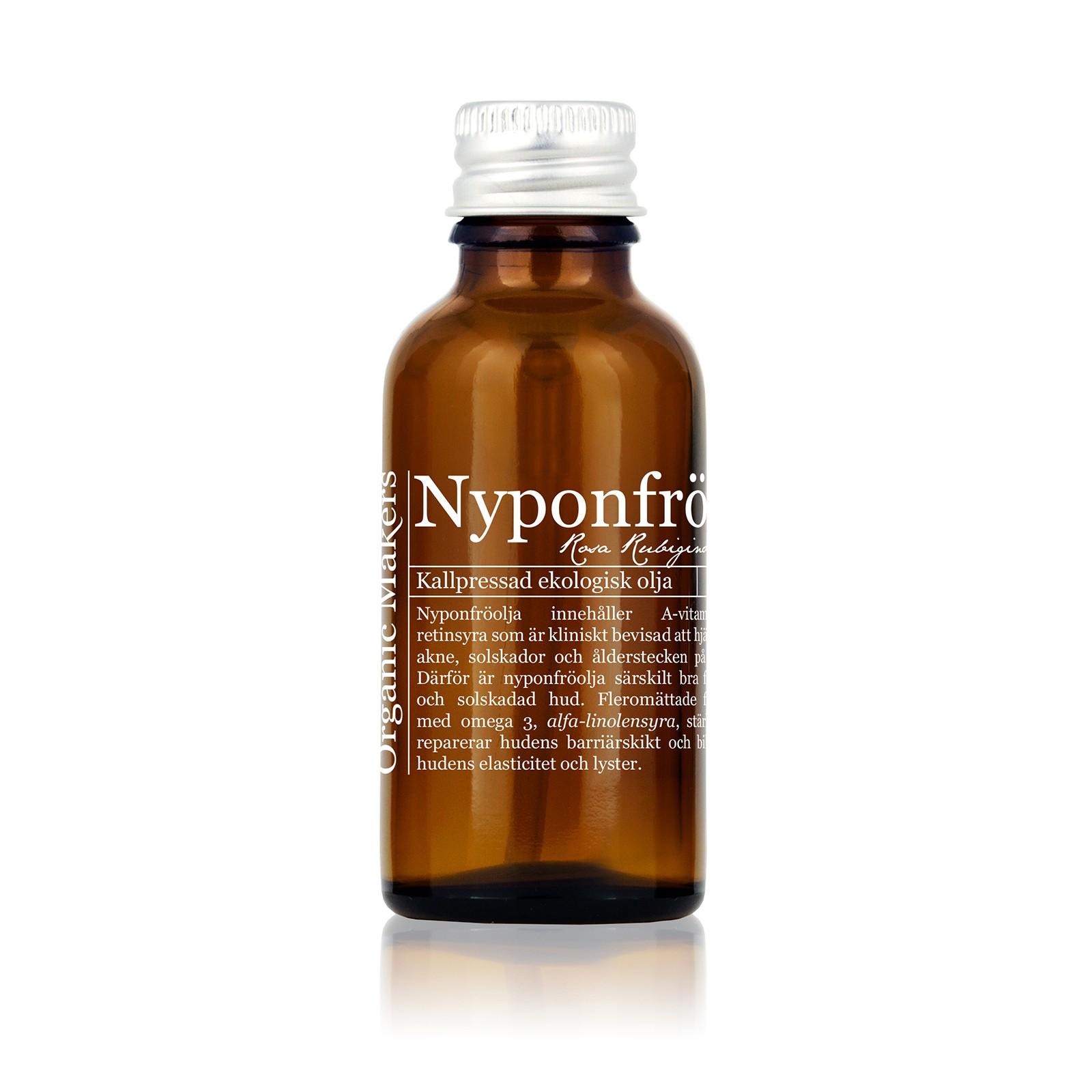 Nyponolja för huden