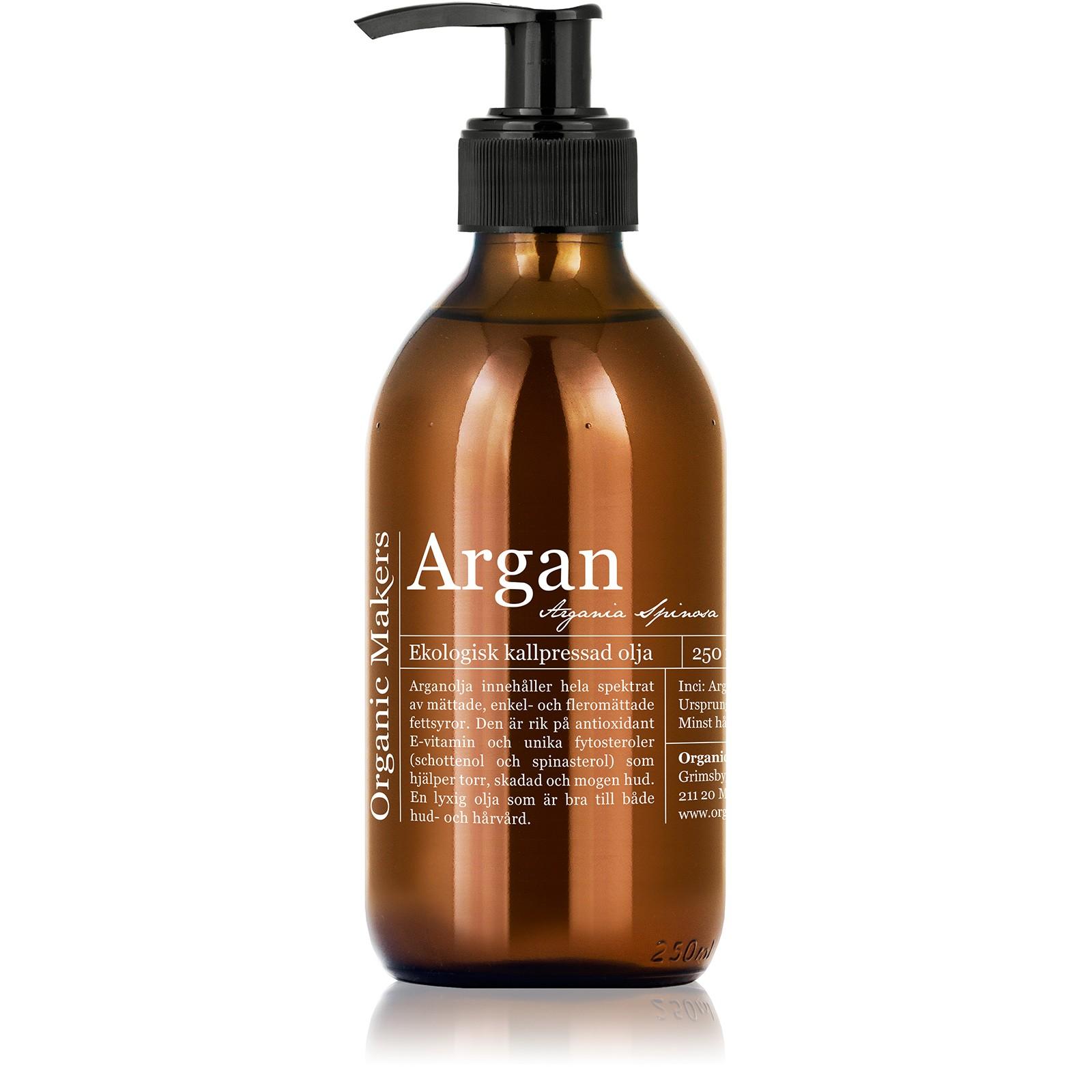 kallpressad arganolja hår
