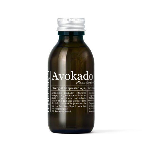 Avokadoolja ekologisk kallpressad 150 ml i glasflaska med kork - organicmakers.se