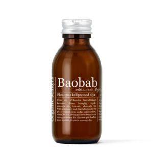 Baobabolja ekologisk kallpressad 150 ml i glasflaska med kork