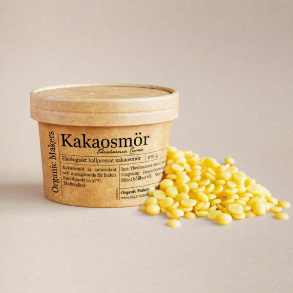 Kakaosmör ekologiskt fair trade för hudvård & mat - organicmakers.se
