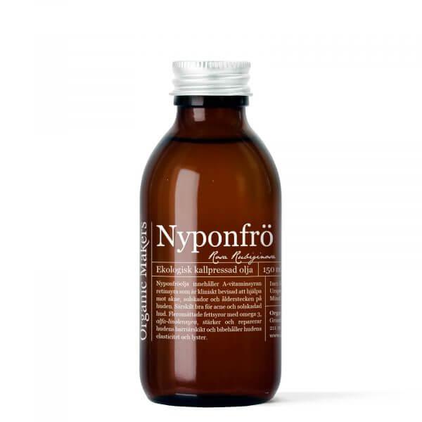 Nyponfröolja kallpressad ekologisk för DIY hudvård