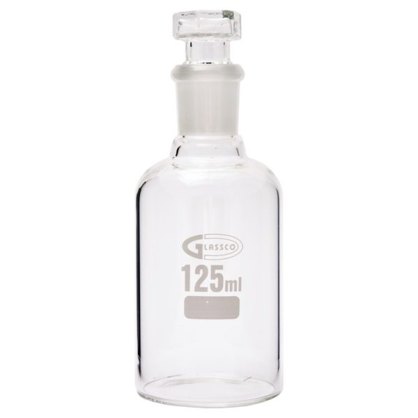 Laboratorieflaska med glaspropp