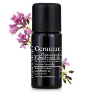 Geranium Bourbon Eterisk olja - Ekologisk geraniumolja