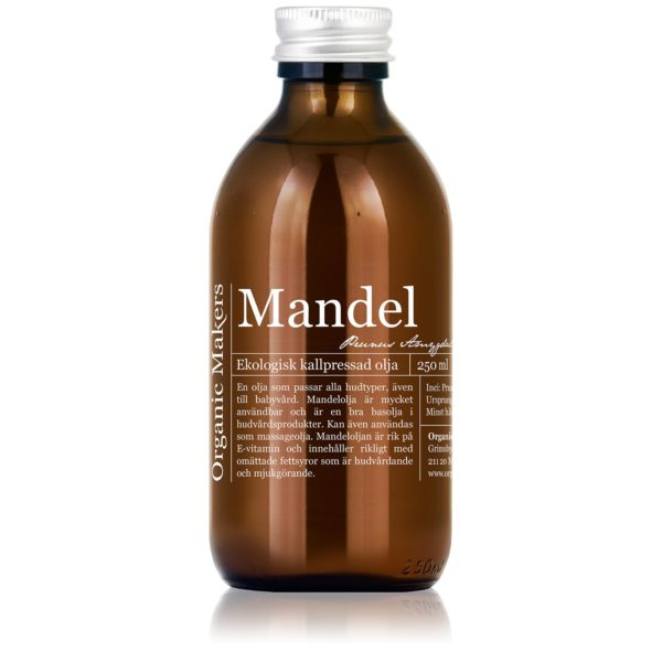 Mandelolja kallpressad ekologisk