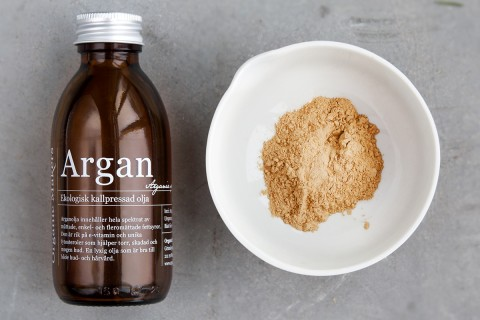DIY - Argan och granatäppleskrubb