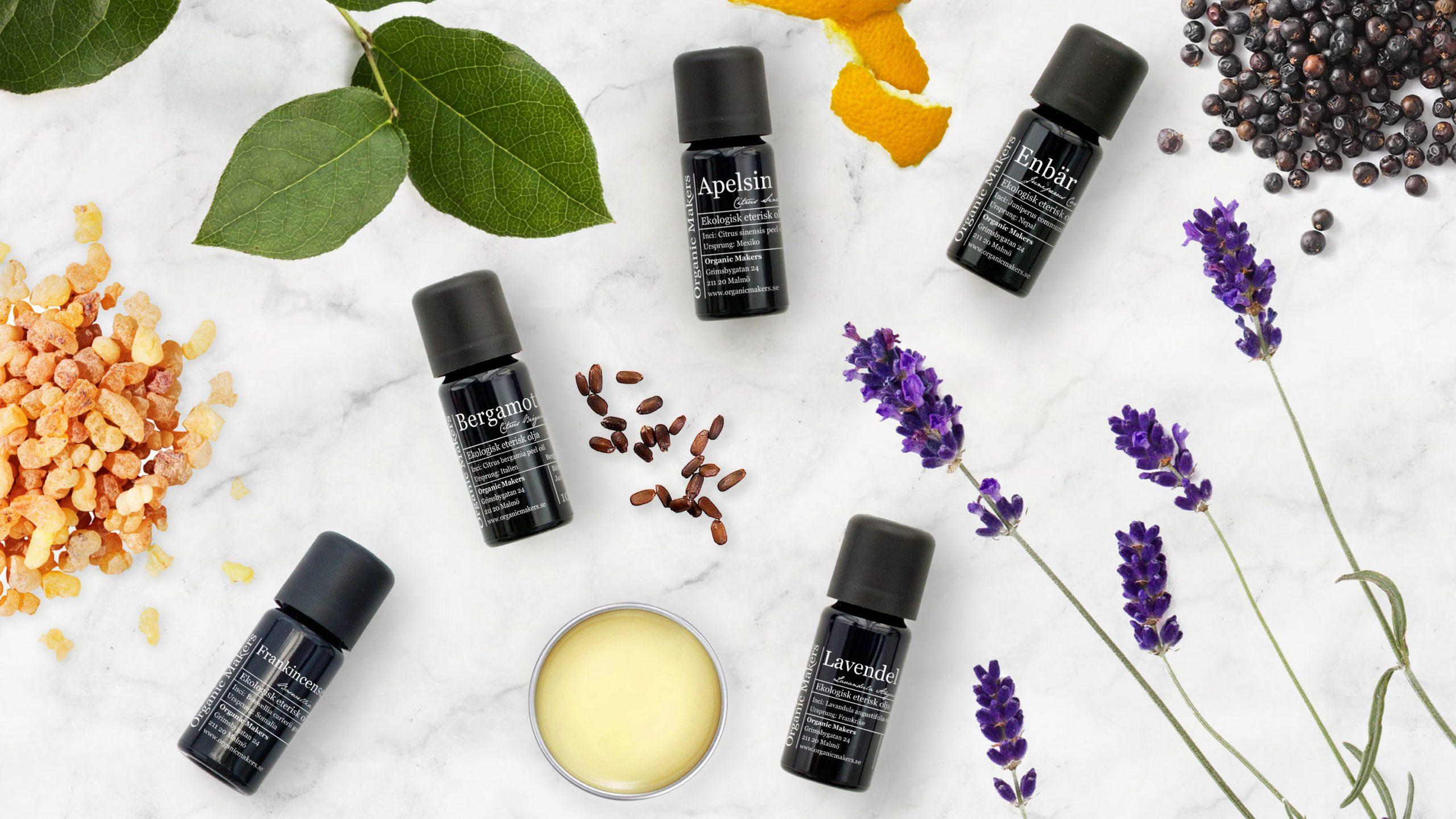 Lär dig allt om eteriska oljor; för naturlig parfym, doftsättning och aromaterapi