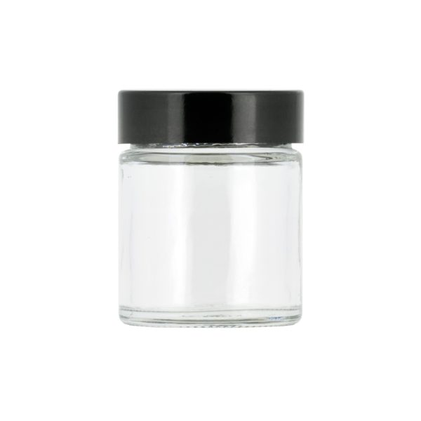 Glasburk, klar 30 ml med lock