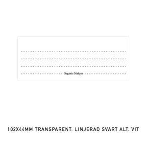 Etiketter transparenta 76 x 30 mm