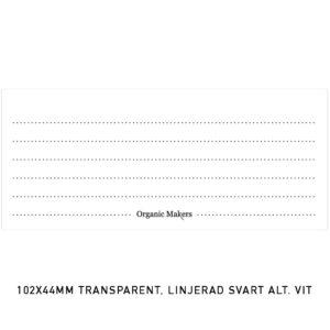 Etiketter transparenta 102 x 44 mm