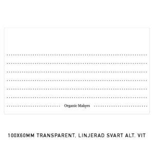 Etiketter transparenta 100 x 60 mm