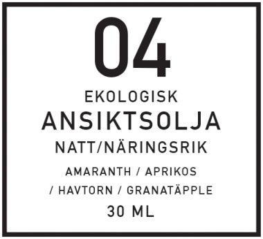 DIY näringsrik Ansiktsolja, natt - organicmakers.se