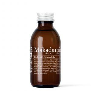 Makadamiaolja kallpressad ekologisk för DIY hudvård