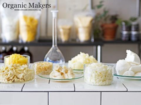 Ekologiska vaxer och fetter för hudvård- organicmakers.se