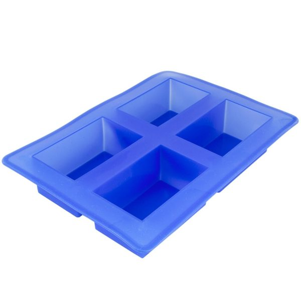 Tvålform silikon blå