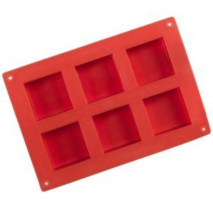 Tvålform silikon röd