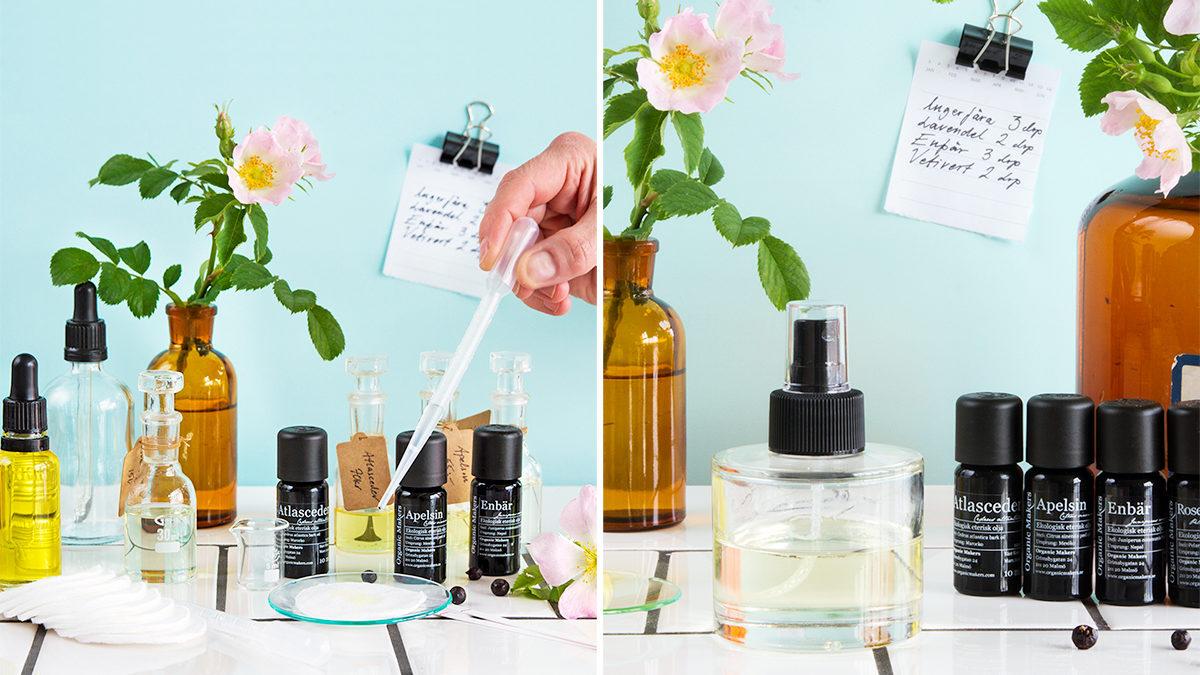 Tillverka egen naturlig parfymolja