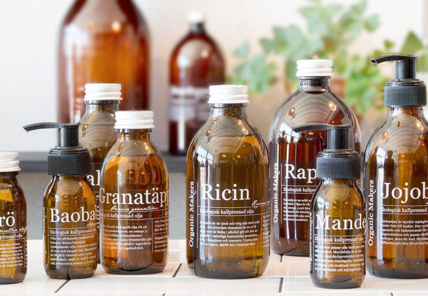 Ekologiska oljor för hudvård
