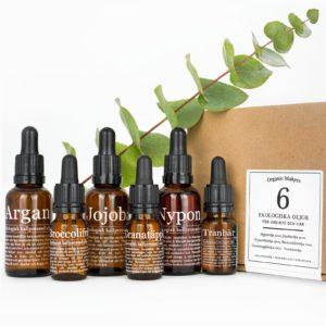 Oljekit 6 ekologiska oljor för hudvård