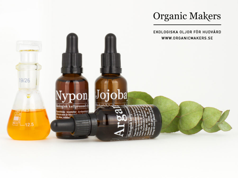 Ekologisk arganolja, jojobaolja och nyponfröolja - organicmakers.se