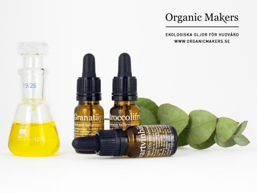 Ekologisk broccolifröolja, granatäppleolja och svartvinbärsolja