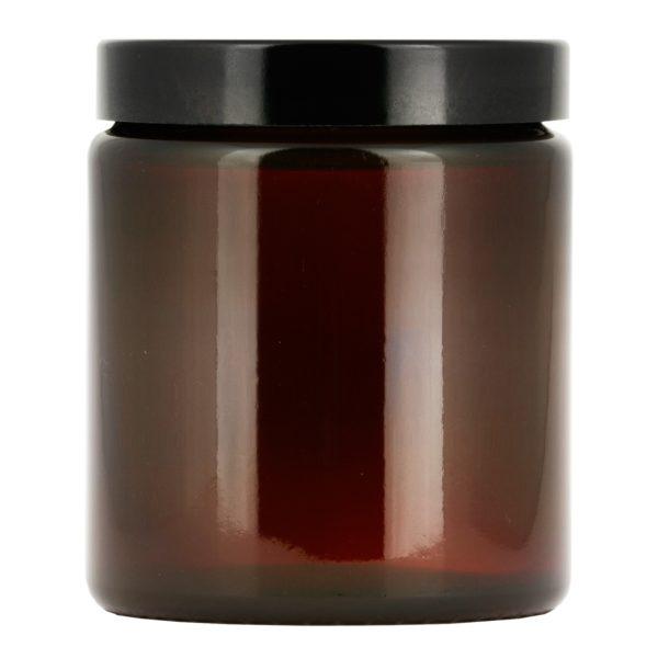 Brun glasburk 160 ml med lock