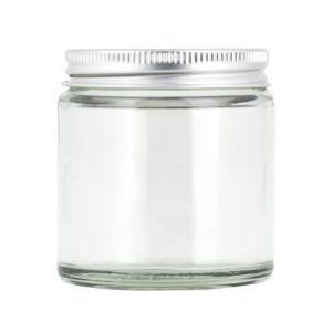 Glasburk, klar 120 ml med lock