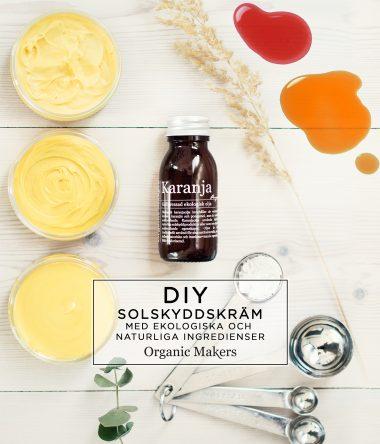 Solskyddskräm karanjaolja morot - organicmakers.se