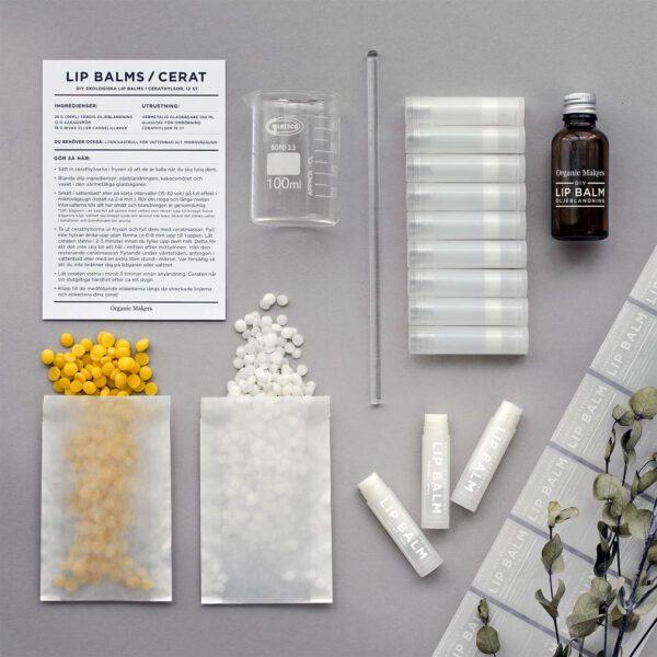 DIY kit lipbalms cerat läppcerat - gör det själv -organicmakers.se