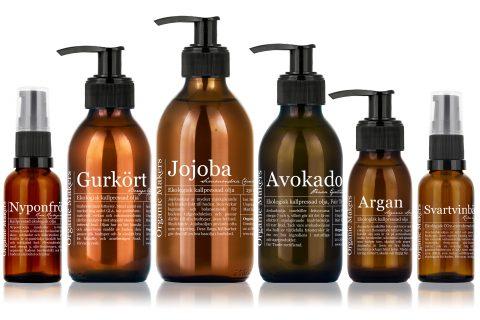 Ekologiska oljor för hudvård - Organic Makers