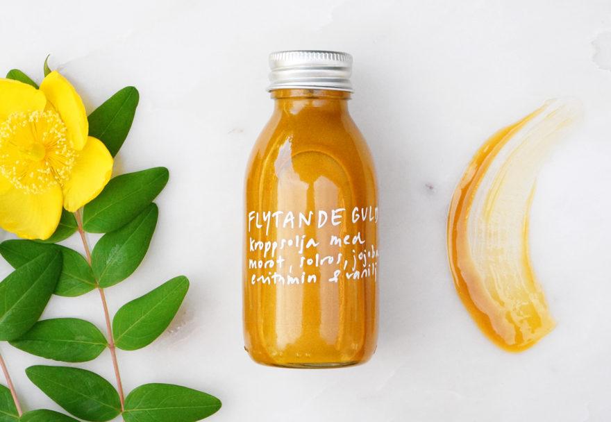 DIY kroppsolja med guld & brons - organicmakers.se