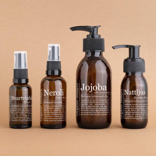 Oljor + hydrolatpaket för torr & känslig hud - organicmakers.se