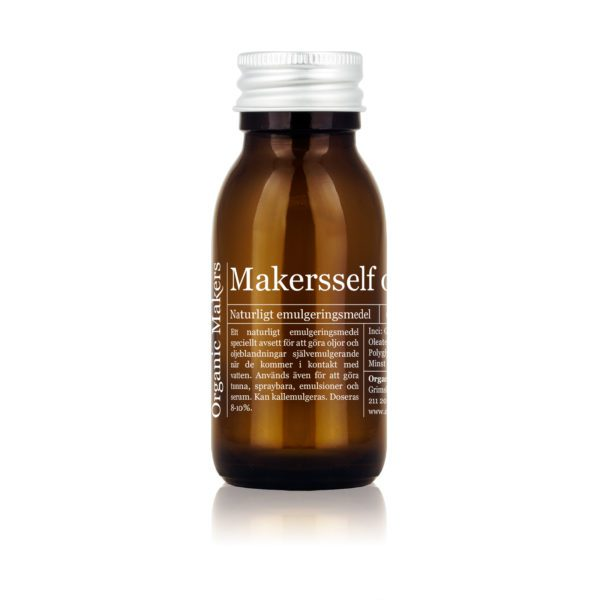 Makersself - emulgering för självemulgerande badoljor, tunna emulsioner och serum.