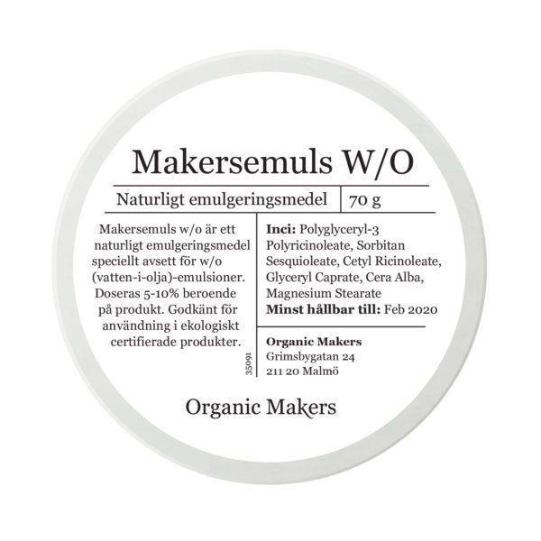 Makersemuls w/o naturligt vatten-i-olja emulgeringsmedel