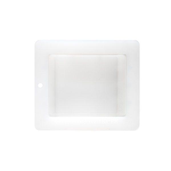 Tvålform i vit silikon