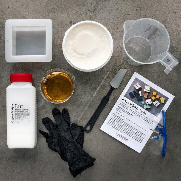 Startpaket kit kallrörd tvål DIY - organicmakers.se