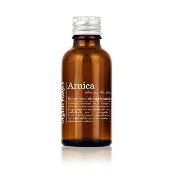 Arnicaolja ekologisk - koncentrerat arnicaextrakt - organicmakers.se