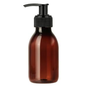PET-flaska brun 100 ml med pump