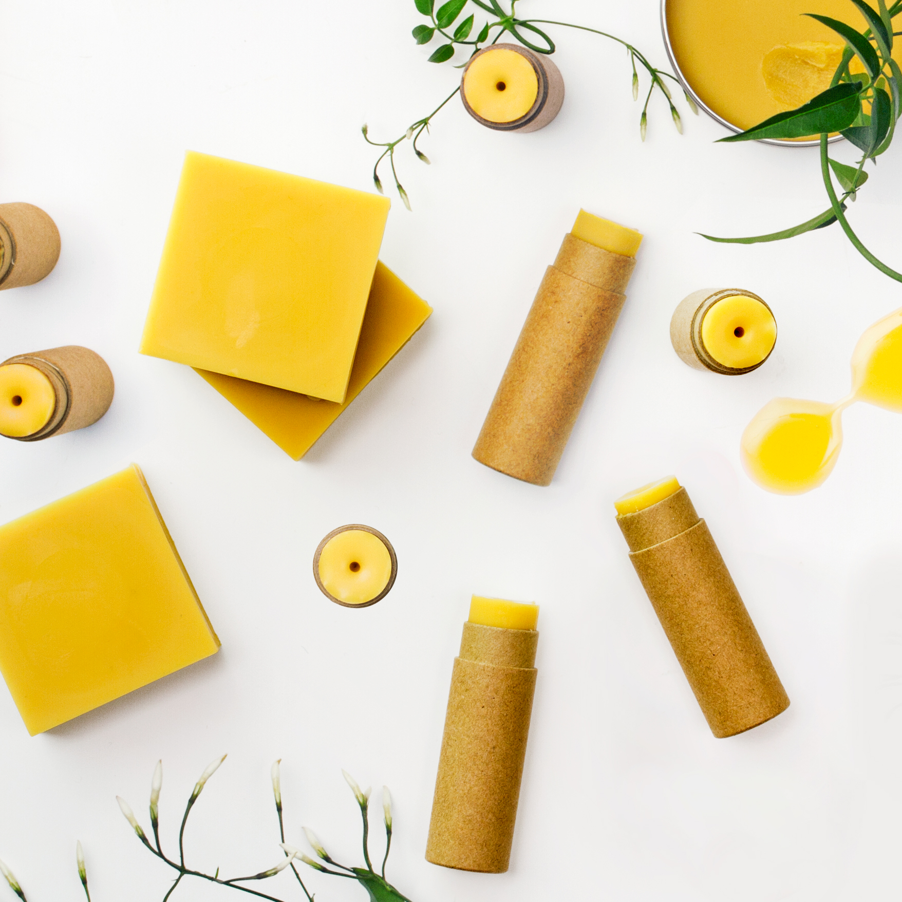 DIY lip balms och lotion bars med jasminvax
