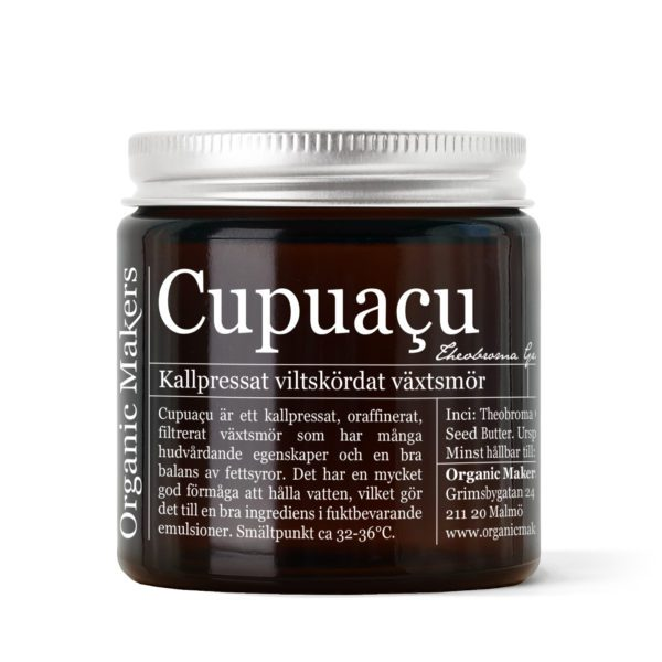 Cupuacusmör i brun glasburk