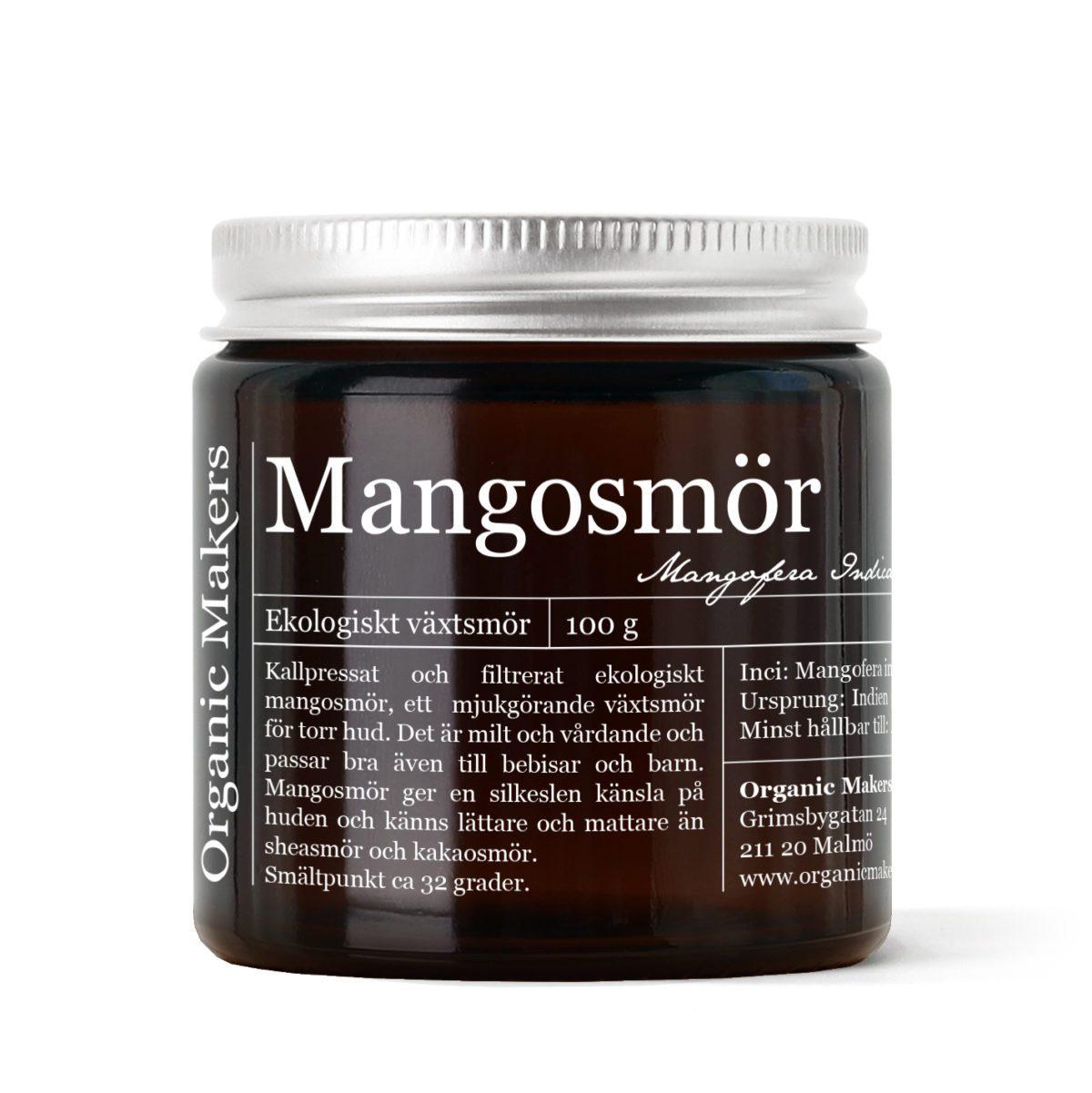 Mangosmör ekologiskt i brun glasburk