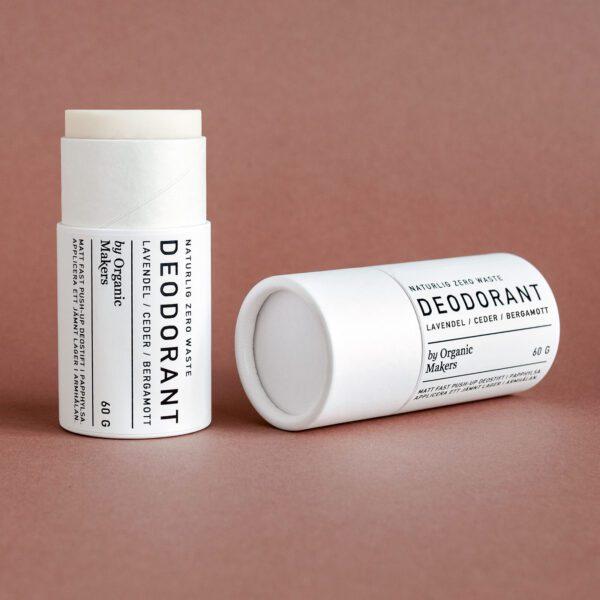 Deodorant deostift i nedbrytbar papphylsa zero waste naturlig & ekologisk