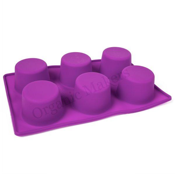 silikonform 6 fack muffins stora för tvål, shampokakor, lotionbars, bakning m.m - organicmakers.se DIY hudvård