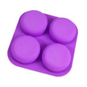 Silikonform 4 fack puckar för tvål, shampokakor, balsamkakor, lotionbars & bakning - organicmakers.se