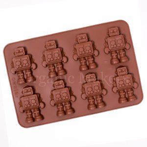 Silikonform robotar - diy tvål - organicmakers.se