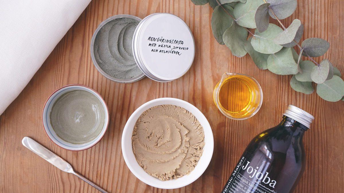 Recept på enkla masker & rengöringproduker - Organic Makers DIY hudvård